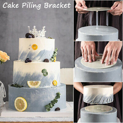 £4.74 • Buy Multi-layer Cake Stands Support Frame Spacer Round Piling Bracket WIth Straws~