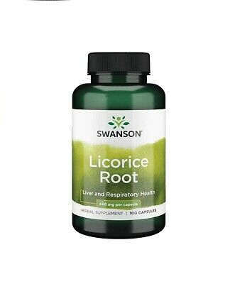£13.49 • Buy Swanson Licorice Root   Supports Liver & Respiratory System   450mg 100 Capsules