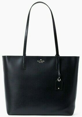 $ CDN139.21 • Buy Kate Spade Janie Smooth Black Leather Large Tote WKRU6263 NWT $329 Retail