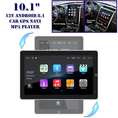 $229.50 • Buy 360° Rotation 10.1  Double 2DIN Android 8.1 Car Stereo GPS MP5 Player WiFi Radio