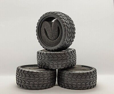 1/10 RC Car Tyre Set. High Grip With Foam Insert. 52mm X 26mm Ships From Sussex! • 7.99£