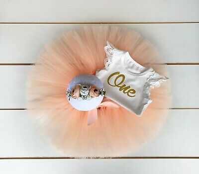AU45 • Buy 3 Piece Peach First Birthday Outfit- Cake Smash Outfit - Baby Girl - Tutu