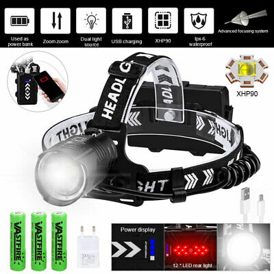 AU32.99 • Buy 990000LM XHP70 XHP90 LED Headlamp Ultra Bright USB Rechargeable Headlight Torch