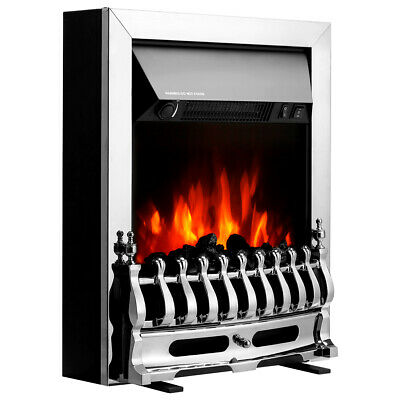 2000W Electric Fireplace Log Burning Fire Flame Effect Stove W/ Detachable Grate • 87.39£