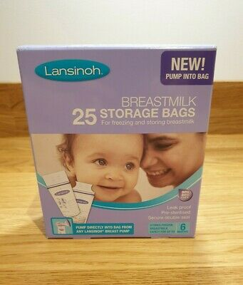 Lansinoh Breastmilk Storage Bags - Pack Of 25 • 8£
