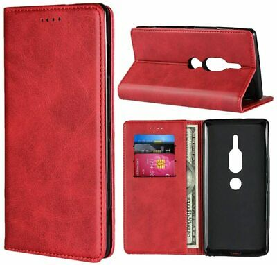AU40.24 • Buy Sony Xperia XZ2 Premium Case,Cowhide Pattern Leather Magnetic Wallet Case