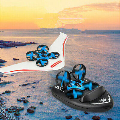 AU85.86 • Buy Jjrc H36S 2.4G 4 In1 Flying Drone Land Driving Boat Glidering Detachable