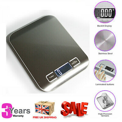 £9.75 • Buy 5KG Digital Kitchen Scales Electronic LCD Bowl Scale Cook Baking Food Weighing