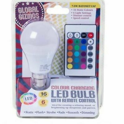 £6.99 • Buy Colour Changing Lightbulb With Remote Control - Bayonet Cap Brand New & Sealed