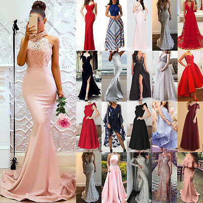 AU28.69 • Buy Women Party Evening Gown Dress Elegant Wedding Cocktail Formal Maxi Long Dress