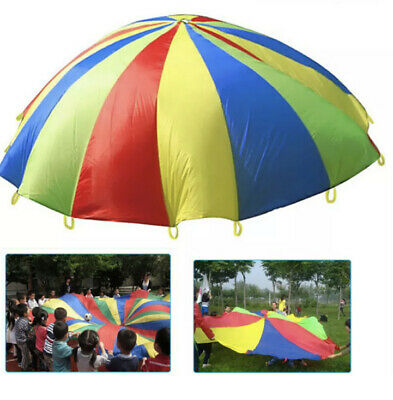 Kids Play Parachute Multicolored Play Tent With Handles Indoor Outdoor Games • 12.30£