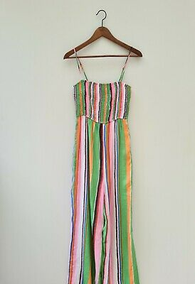AU19 • Buy Urban Outfitters Striped Jumpsuit Size Medium