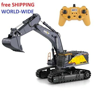 Toys For Boys Remote Control Excavator RC Bulldozer Tractor Truck Metal Digger • 216.06£