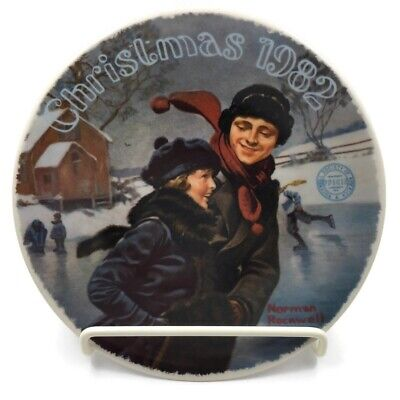 $ CDN12.76 • Buy 1982 Norman Rockwell Christmas Courtship Knowles Decorative Plate