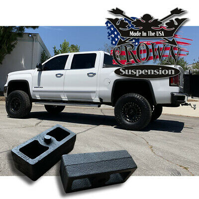 $20 • Buy 2  Rear Leveling Lift Blocks For Chevrolet Silverado GMC Sierra HD Steel Kit