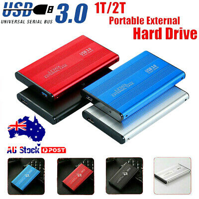 AU46.30 • Buy Portable USB3.0 External Hard Drive Disks HDD 2.5''for Mac PC Laptop Desktop AUS