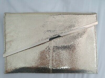 AU15 • Buy Forever New Clutch Bag Metalic Gold Excellent Condition Like New