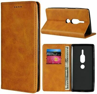 AU40.24 • Buy Cover For Sony Xperia XZ2 Premium Case, Cowhide Pattern Leather-Light Brown