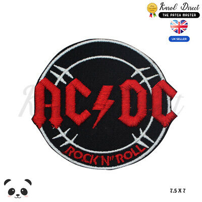 £1.99 • Buy Ac Dc Music Band Embroidered Iron On Sew On PatchBadge For Clothes Etc
