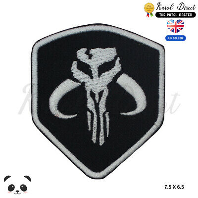 Mandalorian Star Wars Shield Movie Embroidered Iron On /Sew On Patch Badge • 1.99£