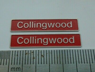 AU17.83 • Buy 50005 Collingwood. O Gauge Etched 7mm Scale Nameplates. Self Adhesive. Red B/g