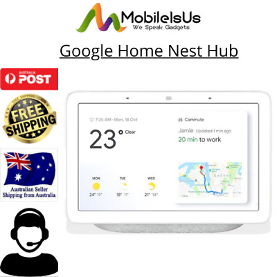 AU139.95 • Buy Google Home Nest Hub Smart Display & Home Assistant GA00516 - Chalk - [Au Stock]
