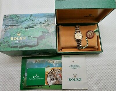 $ CDN4556.52 • Buy 1988 Lady Rolex Datejust 69173 Tapestry Dial 18K & Steel Box & Papers Quickset
