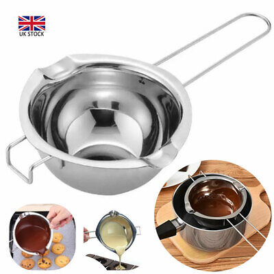 Stainless Steel Wax Melting Pot Double Boiler DIY Wedding Scented Candle Silver • 7.35£