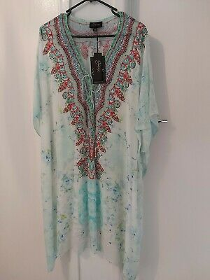 AU135 • Buy Czarina 🌟summer Dream Crystal Embelished  Swing Dress Kaftan
