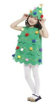 Kids Girls Christmas Tree Costume / St. Patrick's Day Costume Xmas Party Outfit • 18.99£