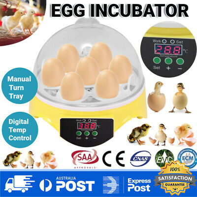 AU10.99 • Buy 7 Egg Incubator Fully Automatic Digital Hatcher Chicken Poultry Home Use 20W AU