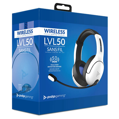 AU123 • Buy PDP LVL50 Wireless Stereo Gaming Headset For PS4/PS5 (White)