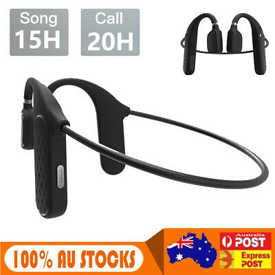AU19.99 • Buy Bluetooth Bone Conduction Neckband Headphones Stereo Wireless Earphones Headset