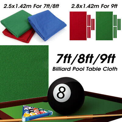 AU53.29 • Buy Professional Billiard Pool Table Cloth Cover Mat Felt Accessories For 7/8/9FT