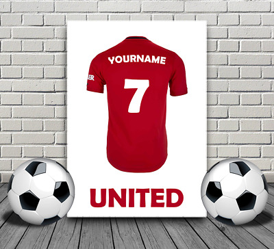 £2.99 • Buy Manchester United Personalised Name Poster & Keyring