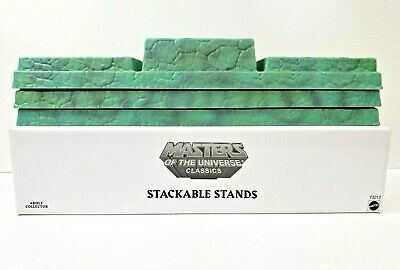 $65 • Buy Mattel STACKABLE STANDS Masters Of The Universe Classics 3 Stands Per Box