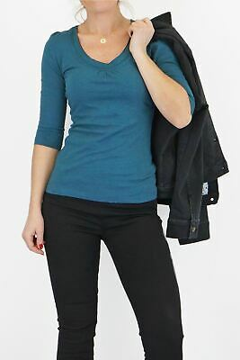 £13.95 • Buy Womens Mistral Top Scoop Neck Teal Blue T Shirt Tee Soft Cotton Ladies Casual