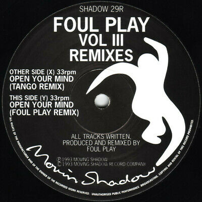 Foul Play Vol III Remixes - Moving Shadow 10'' Promo From 1993. • 20£