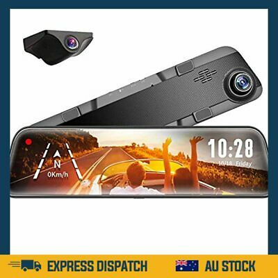 AU270.99 • Buy Mirror Dash Cam Front And Rear Camera,12  IPS Full Touch Screen,1296P HD - AU