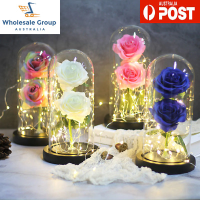 AU51.34 • Buy Enchanted Double Infinity Gold Rose Eternal Galaxy Forever Valentines Gift