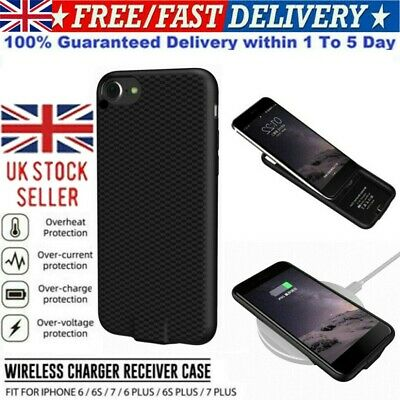Wireless Charger Charging Receiver Cover Case For IPhone 6 6S 7 / 6 6S 7 Plus • 10.06£