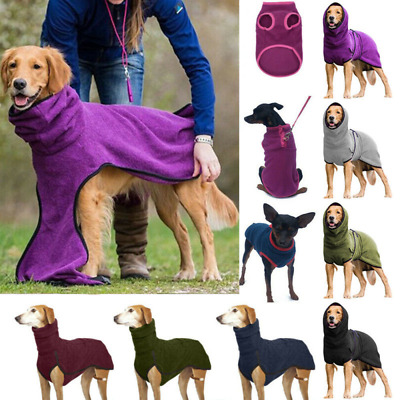 Pet Dog Greyhound Clothes High Collar Jumper / Vest Coat / Solid Hoodies Winter • 11.79£