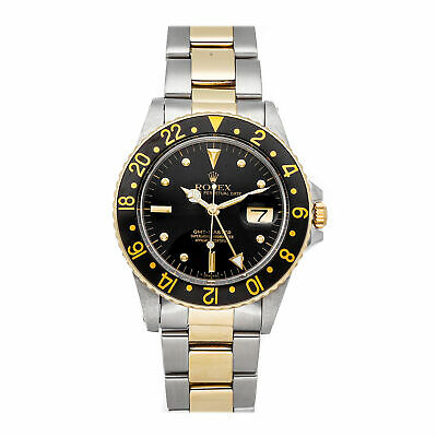 $ CDN13194.18 • Buy Rolex GMT-Master Auto Steel Yellow Gold Mens Oyster Bracelet Watch Date 16753