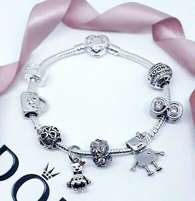 £18 • Buy Silver Moments Charm Bracelet With Bella Bot Charms Plus Mixed Themed Charms  🖤