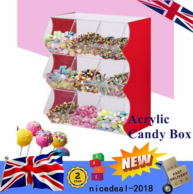 Stacking Pick & Mix Dispenser Wedding Sweets Display Stand Acrylic Candy Box  • 164.01£