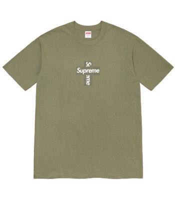 $ CDN250 • Buy Supreme Cross Box Logo Tee T Shirt New Light Olive Size Medium Confirmed Order