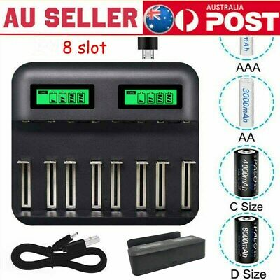 AU25.89 • Buy 8 Slot Intelligent Battery Charger For AA AAA C D Rechargeable Batteries Hot New