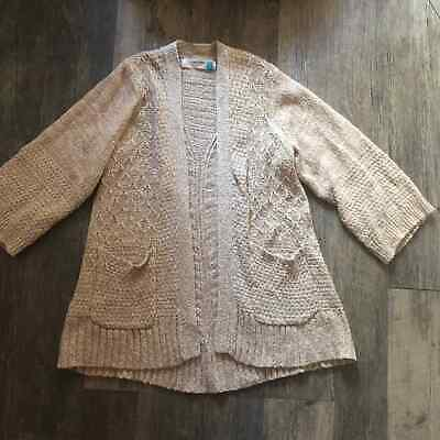$ CDN35.11 • Buy Anthropologie Sparrow | Oatmeal Cardigan With Pockets Womens XS