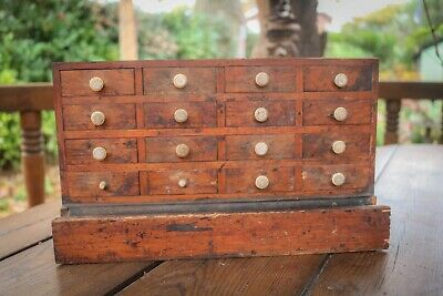 Antique - Watchmakers Chest Drawers - Collectors - Printers - Engineers - Rare • 149.99£