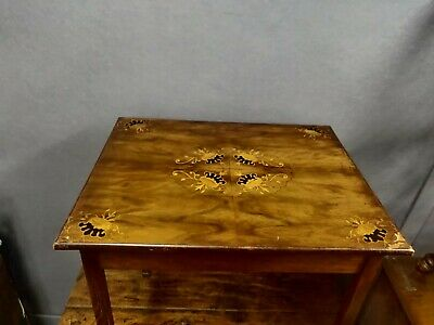 19th Century Marquetry Inlaid Side Table • 60£